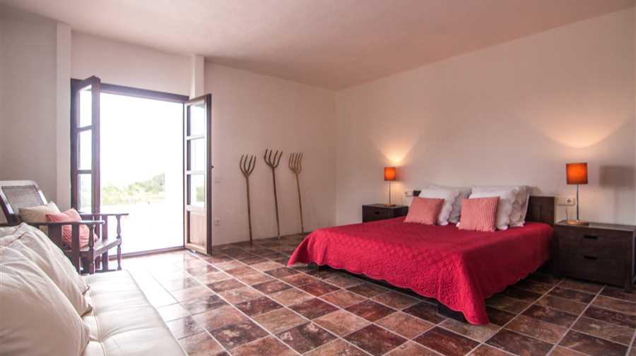 New-built spacious villa view towards the bay of San Antonio