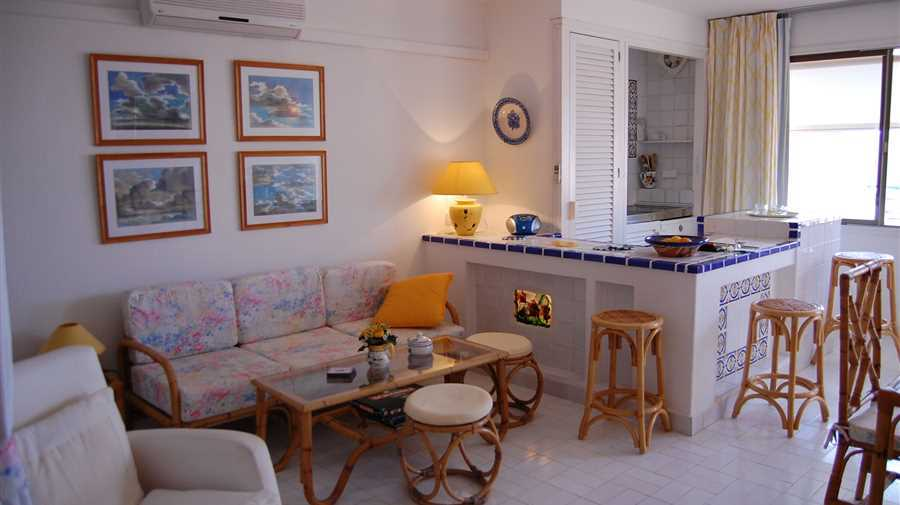 Great apartment in Cala Tarida first sea line with fantastic views