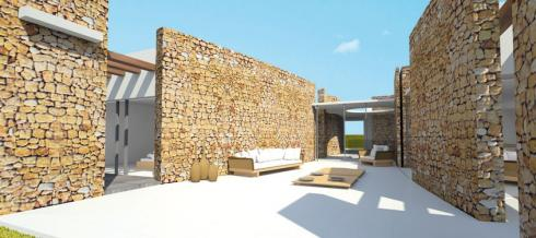 Construction of modern luxury villas in the area of Cala Conta