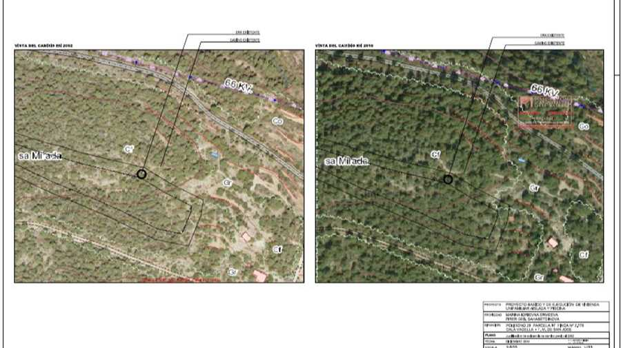 Nice plot with licence in Cala Vadella