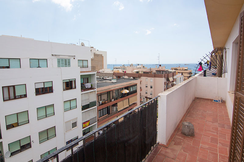 This beautiful two bedroom apartment in the city of Ibiza is for sale