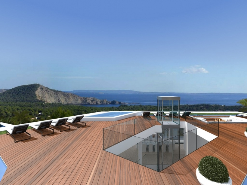 Luxury real estate project for sale in the most exclusive urbanisation of Ibiza