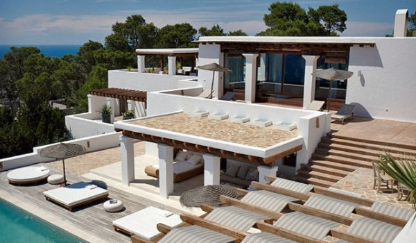 Luxury villa with 5 bedrooms in San Jose Cala Carbo for rent