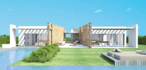 Construction of modern luxury villas in the area of Cala Conta