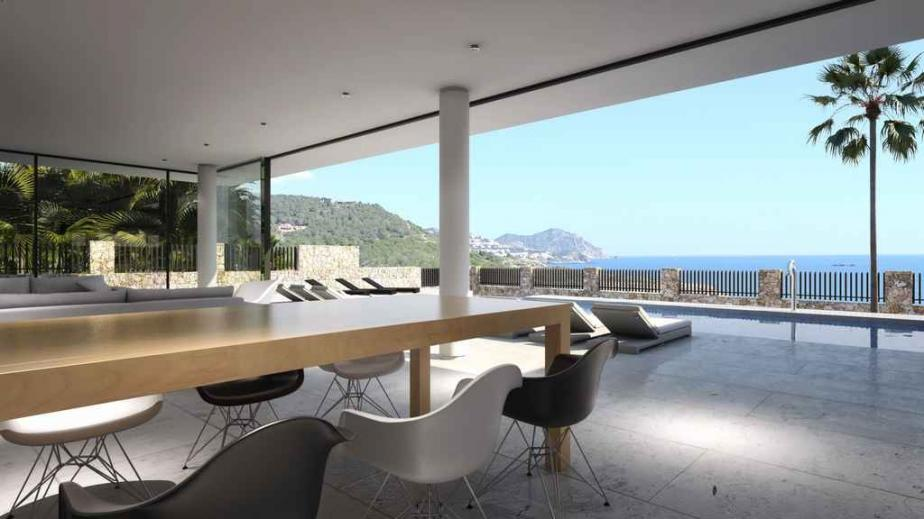 Designer villa with sea views in Talamanca Ibiza for sale