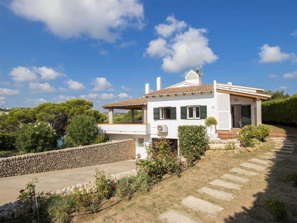 Villa in Menorca frontline on the beach of arenal den castell