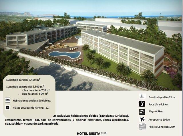 Nice Four Star Hotel Business In Sante Eulalia For Sale