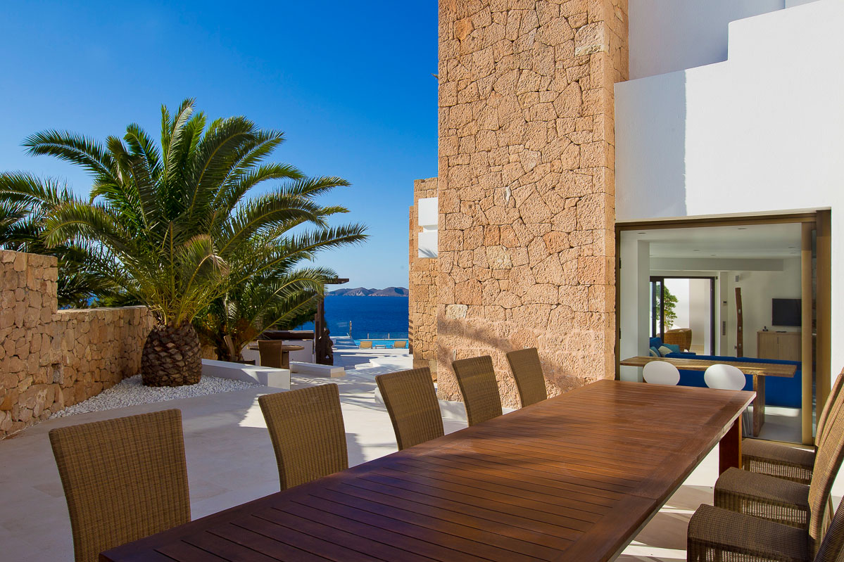 Marvellous seafront villa on top of Cala Vadella breathtaking sunset view guaranteed