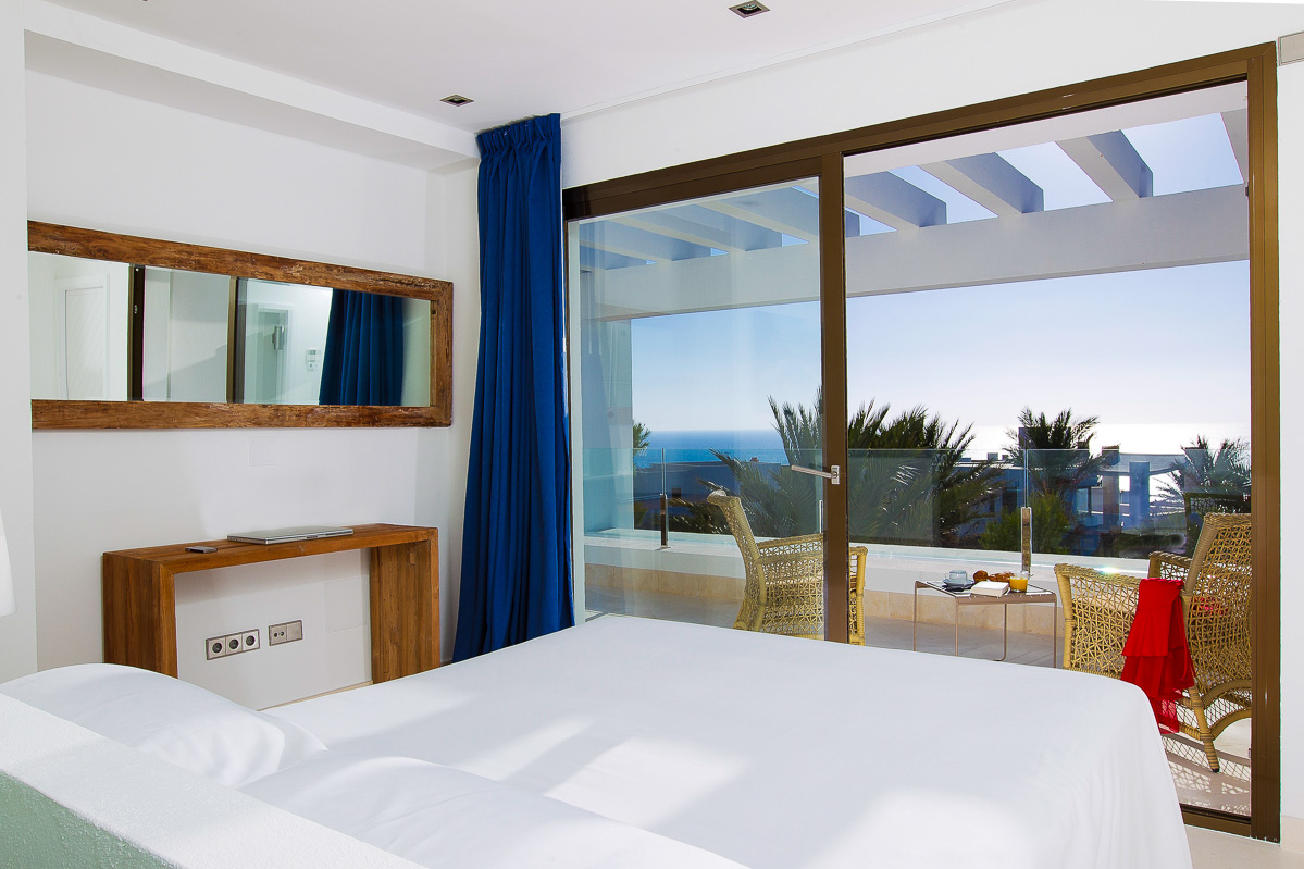 Marvellous seafront villa on top of Cala Vadella breathtaking sunset view guaranteed