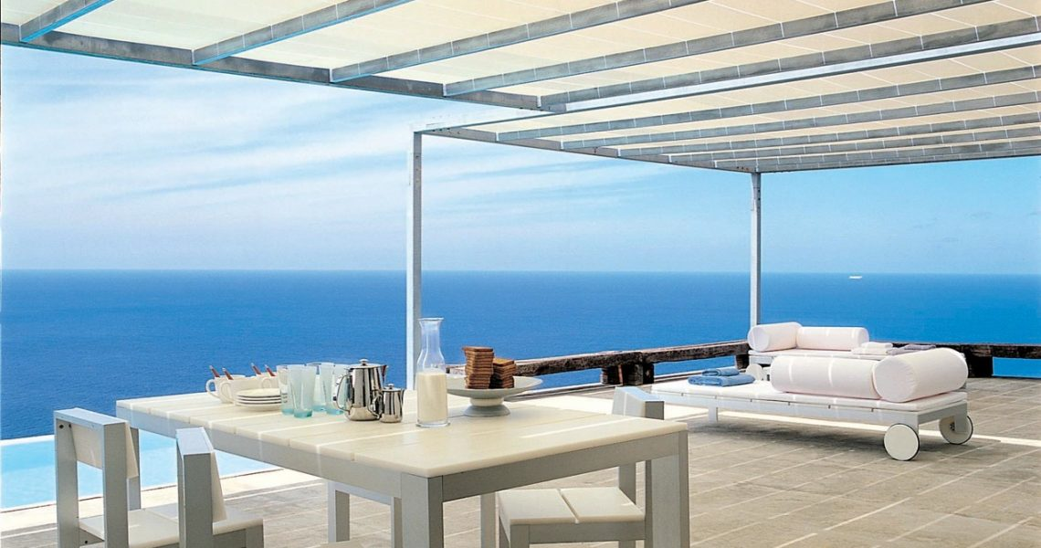 Luxury villa Ibiza in first line to the sea near Na Xamena