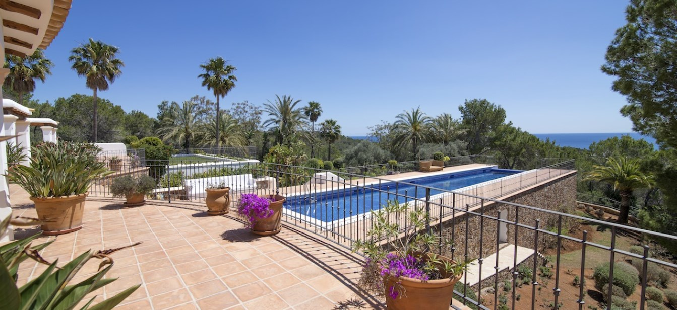 Large luxury villa in Ibiza with amazing views