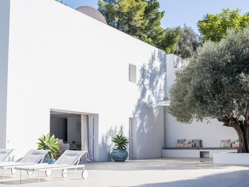 Modern luxury villa in Ibiza San Juan with sea view