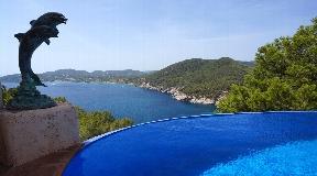 Luxury Villa In Ibiza With Fan.