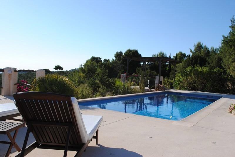 Charming villa in Cala Tarida, Ibiza for rent