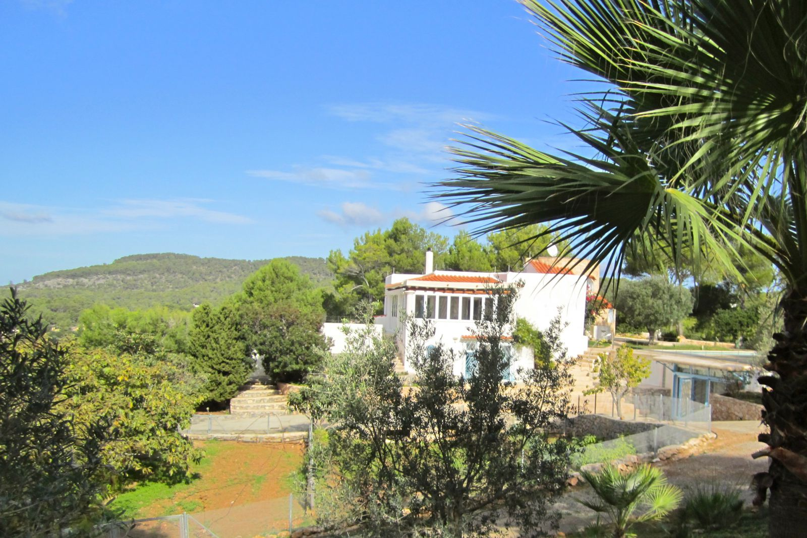 Villa with 3 annexes in loft style with sea view in Cala Vadella