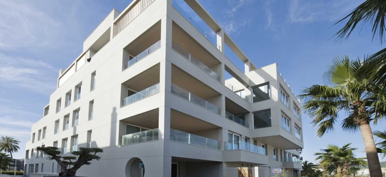 Modern apartment in the Sa Marina building with stunning views of D'Alt Vila