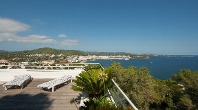 Luxury villa with stunning sea views and the bay of Santa Eulalia