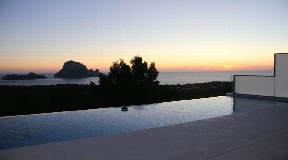 Modern house with great views to the sea Es Vedra and private pool