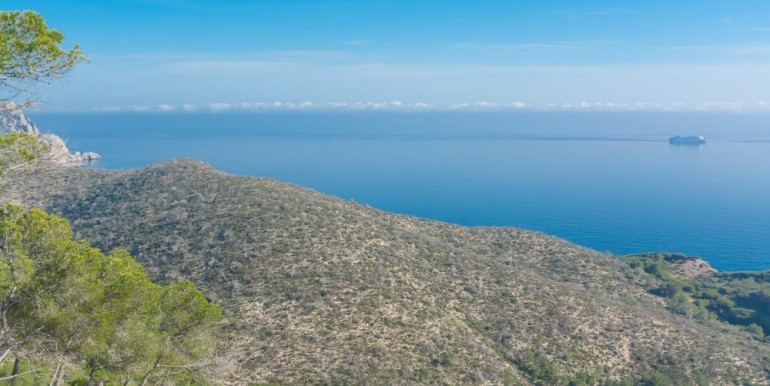 Plot in Ibiza Roca Llisa with amazing views for sale