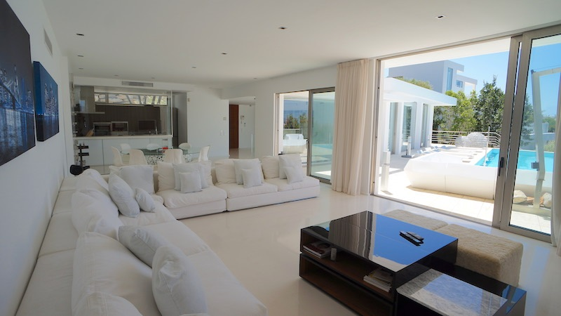Modern villa with outstanding views to Ibiza and the sea in Can Rimbau