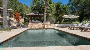 Beautiful modern Ibicenco villa with wonderful views