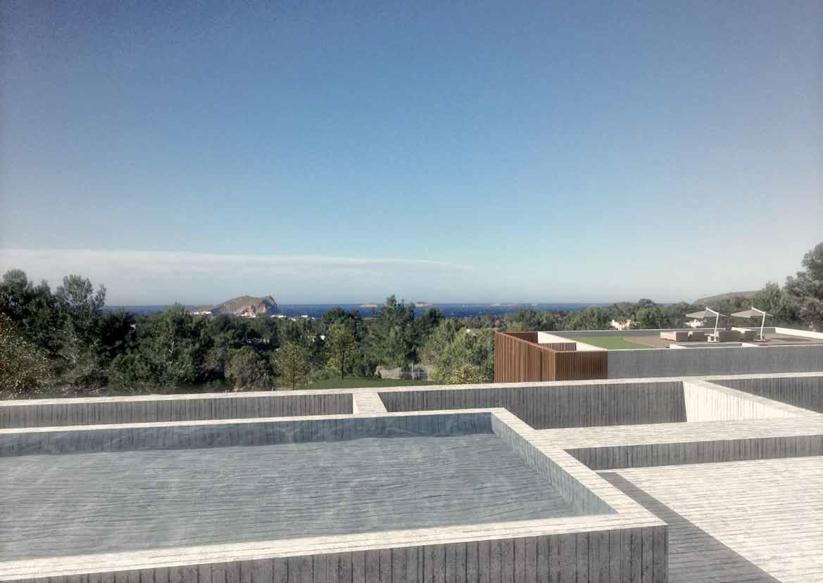 Plot in Cala Conte with impressive see views