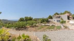 Mediterranean finca on Ibiza with sea view for sale at Cala Vadella