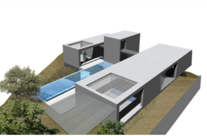 Plot with project in Roca Lisa with nice views to the sea