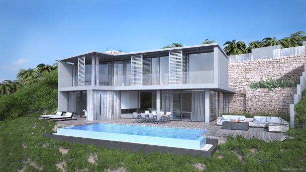 Brand new modern villa with wonderful sea views