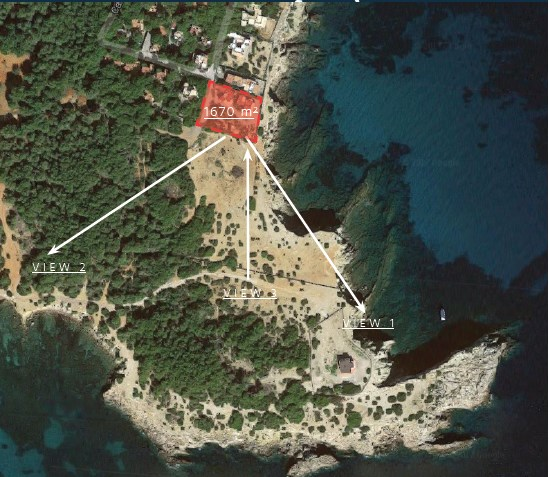 Project for sale in Cala Martina first line to the sea Ibiza