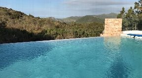 New built villa with unobstructable views over the mountains to the sea
