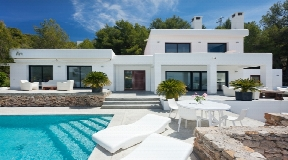 Modern Ibiza villa for rent at Cala Tarida - San Jose