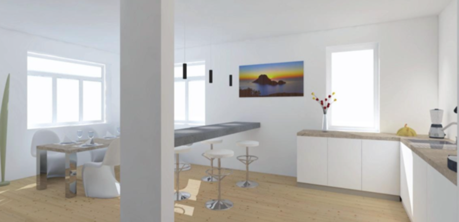 Nice detached house in Ibiza centrum 1 minute to see beach