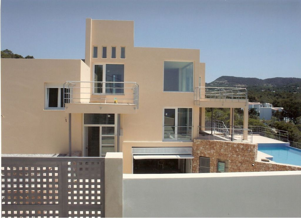 Modern villa with frontal sea view in Ibiza