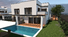New built villa with private pool close to Ibiza centre