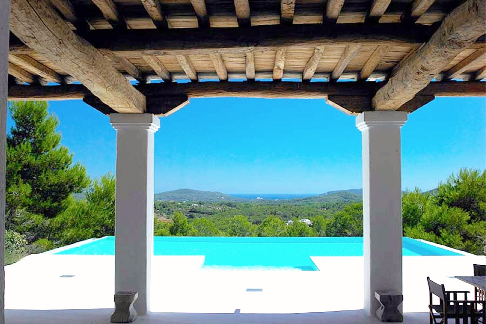 Luxury Blakstad Ibiza villa with sea views