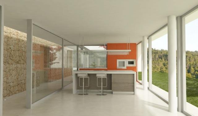 Large plot with a modern new build villa near to Ibiza