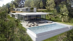 Large plot with a modern new build villa near to Ibiza