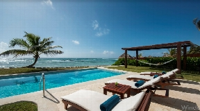 ( MEXICO ) Luxury villa in front of the sea in Tulum with acces to the sand beach