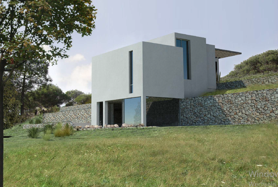 Nice 13000m2 plot with an licence to build a modern house in Santa Gertrudis
