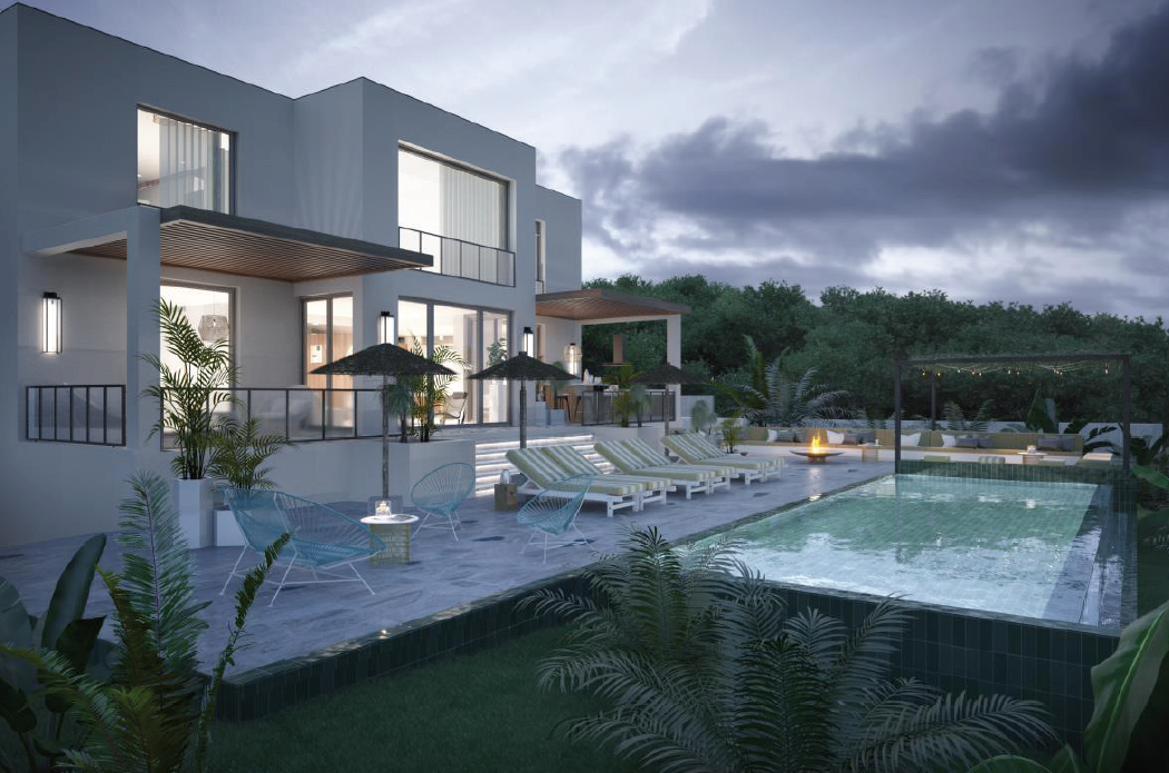 Newly built villa for sale with sea views in Cala Conta