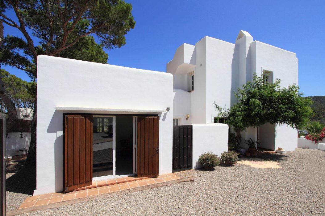 Modern Ibizan style house within walking distance of the beach