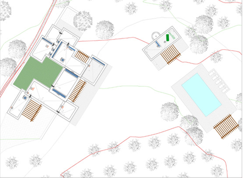 Plot with Blackstad project and construction license