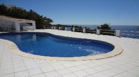 Fantastic semi-detached house in first sea line in Es Cubells