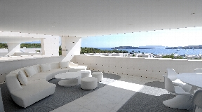 Luxury penthouse  with fantastic views to the Old town and Formentera