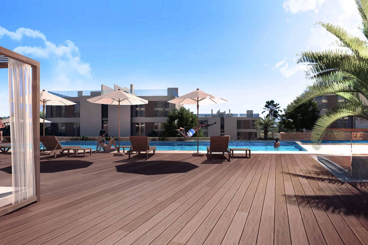 luxury apartments in the Cap Martinet with nice views