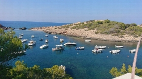 Frontline finca for sale in Portinatx Ibiza with direct sea access