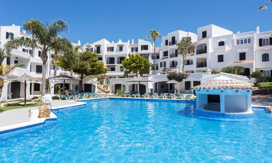 Apartment hotel front line in Menorca for sale
