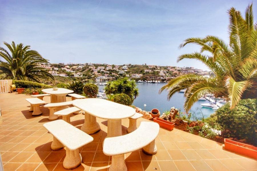 Super beautiful 696 sqm frontline villa in Cala llonga on Menorca for sale