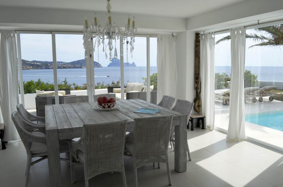Modern villa with spectacular sea views and views of Es Vedra for sale